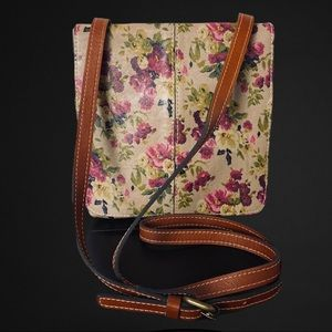 Patricia Nash Italian Leather Crossbody Messenger